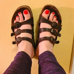 Birkenstock Florida Sandals in Habana Brown